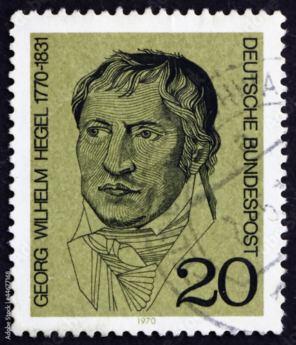 Postage stamp Germany 1970 Georg Wilhelm Hegel