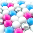 Lot of spheres as abstract backdrop background