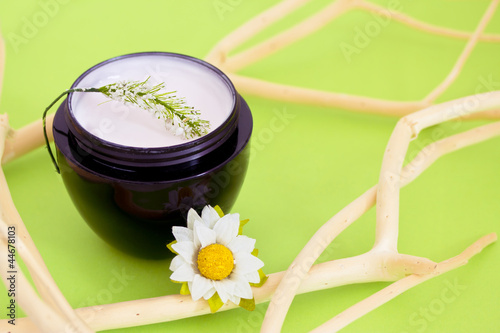 luxury spa moisturising product, bokeh overlay