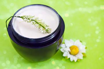 luxury spa moisturising product, bokeh overlay