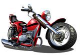 Vector Cartoon Motorcycle - 44678739