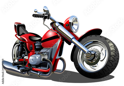 Foto op Canvas Motorfiets Vector Cartoon Motorcycle