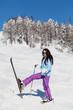 Merry skier