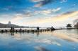 hangzhou west lake at afterglow