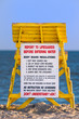 Lifeguard tower at a beach