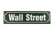 Strassenschild Wall Street New York