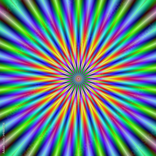 Foto op Canvas Psychedelic Flower Star
