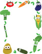 Funny Vegetables Frame