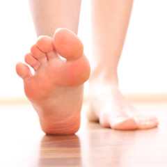 Women Foot stepping