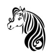 Beauty head hair horse vector stock