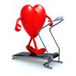heart on a walking machine