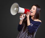 Portrait Of A Female With Megaphone