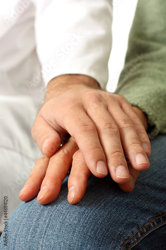 Doctor and senior patient hand