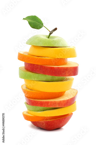 Mixed fruit apple orange lemon