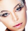 Cosmetics, beauty and fashion - bright glamour make-up