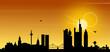 Frankfurt Main Skyline Sonne