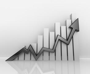 3D Arrow Business Chart