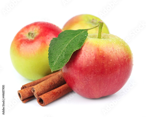 Sweet apple with cinnamon rods