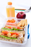 Healthy school lunch concept