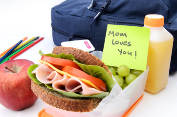 message from mum in lunchbox