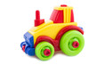 Toy a plastic nursery, a tractor of bright shades.3