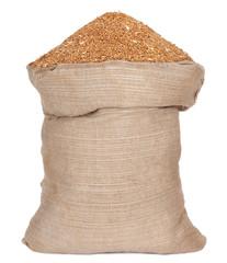 Bag with wheat grain