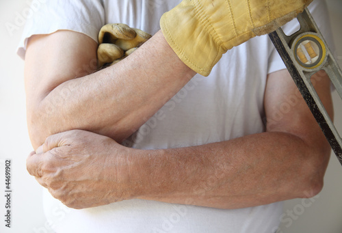 painful elbow on workman