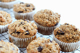 Healthy bran muffins with raisins