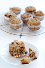Healthy bran muffin breakfast food