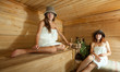 woman in sauna