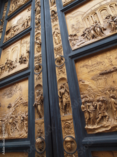 Doors of Paradise of The Florence Baptistry, Italy.