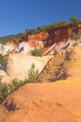 Ocher rocks (French Colorado) near Rustrel