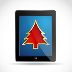 Tablet at Christmas # Vector