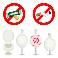 トイレ ポイ捨て禁止