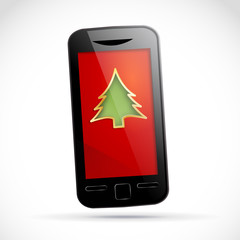 Smartphone at Christmas # Vector