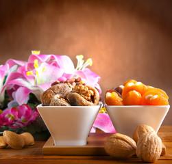 Fichi secchi con ripieno di noci,mandorle e pistacchi
