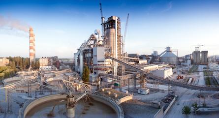 Завод, цемент