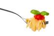 Leinwanddruck Bild - pasta fork