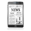 Concept - Digital News. Smartphone with Business News on Screen