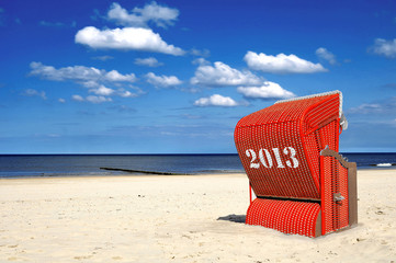 Roter Strandkorb Querformat 2013