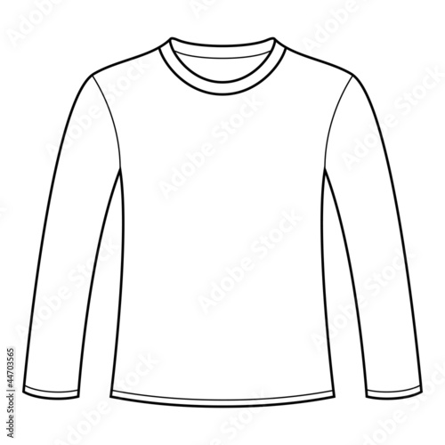 long sleeved t shirt template stockfotos und lizenzfreie vektoren auf bild 44703565. Black Bedroom Furniture Sets. Home Design Ideas