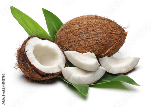Coconuts and leaves