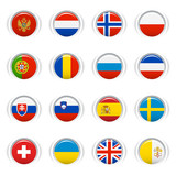 Glossy Buttons - European Flags