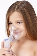 Child with inhaler