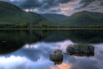 Kilchurn castle au coucher du soleil