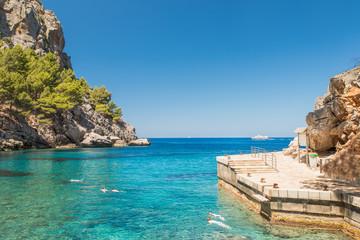Beautiful beach lagoon cape Formentor