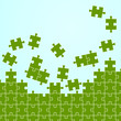 Puzzleteile Hintergrund blau