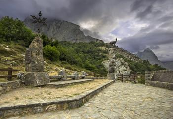 Viewpoint Tombo in Posada de Valdeon, Leon, Spain