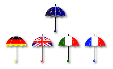 ヨーロッパ国旗 傘