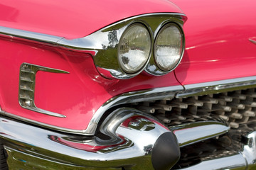 headlights of a classic car